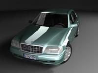 mercedes-benz c220 w202 3d model