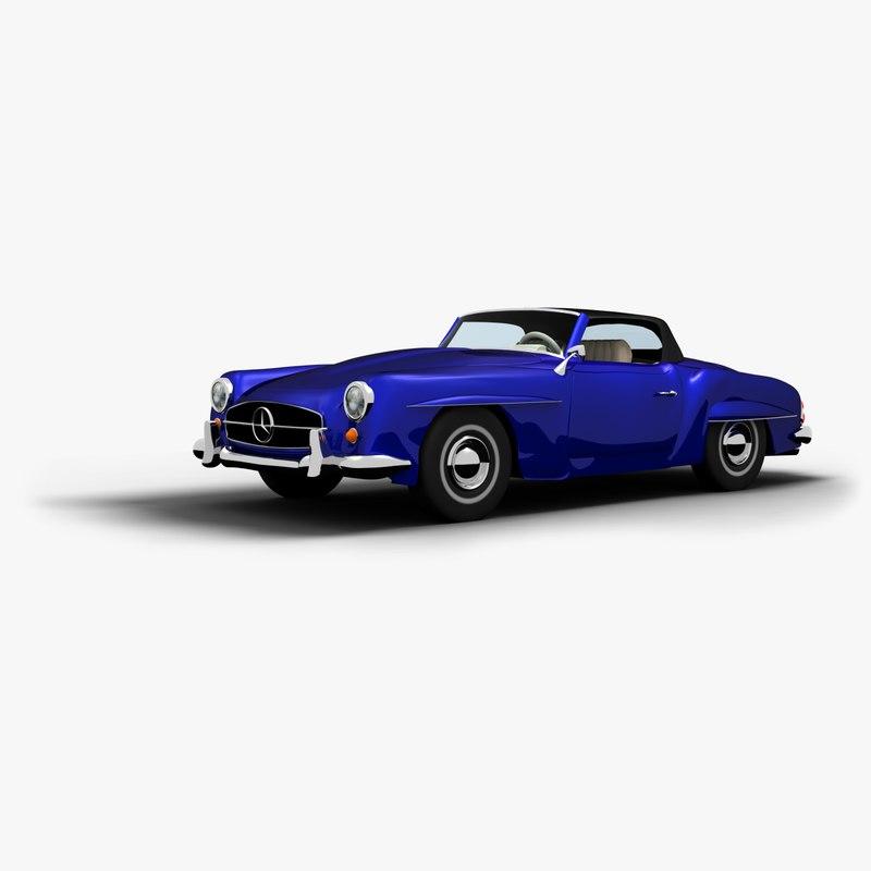 1962 mercedes benz 3d model