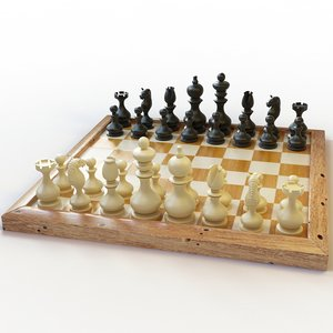 chess set 3d max