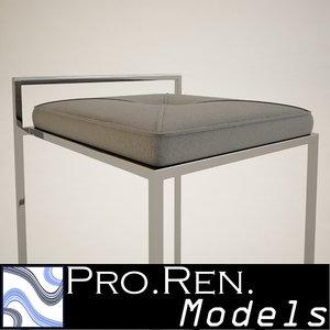 br stool 3d mx