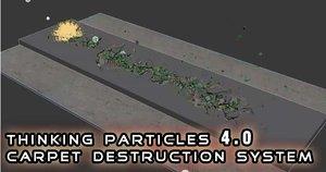3d thinking particles destruction model