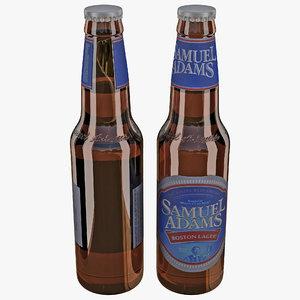 samuel adams beer bottle 3d model