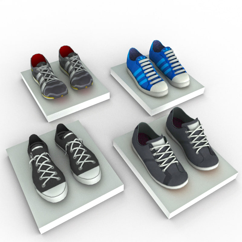 3ds max sneakers polys