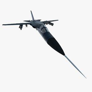 3d model f-111 bomber plane