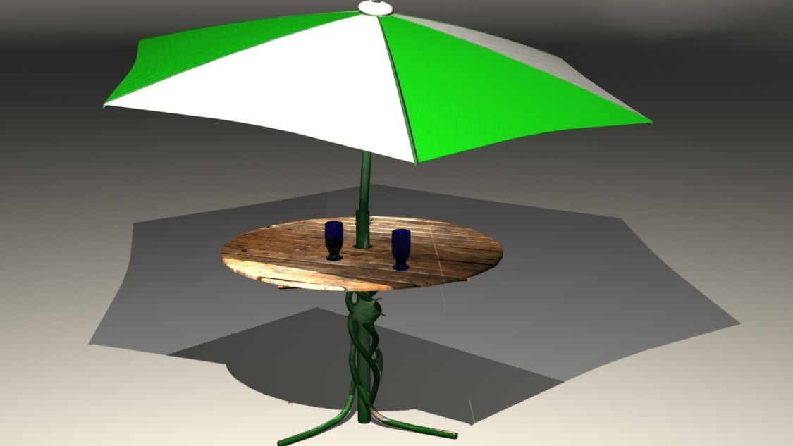 max photorealistic table umbrella