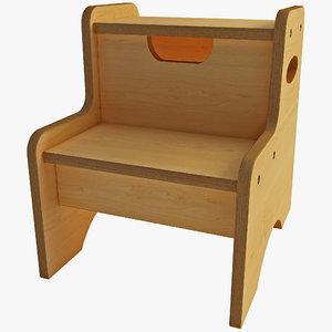 step stool 3d max