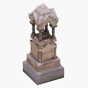 3d butler grave model