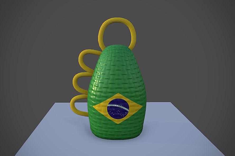 3d model caxirola brazil