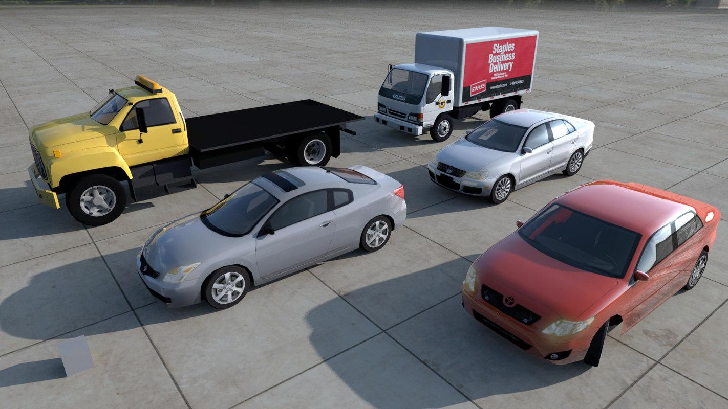 3d obj cars truck isuzu