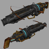 3d steampunk gun