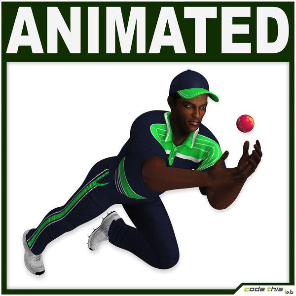 3d model ball player cg