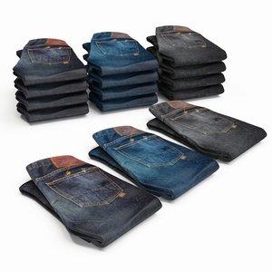denim jeans 3d max