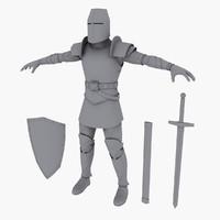 knight medieval 3d max