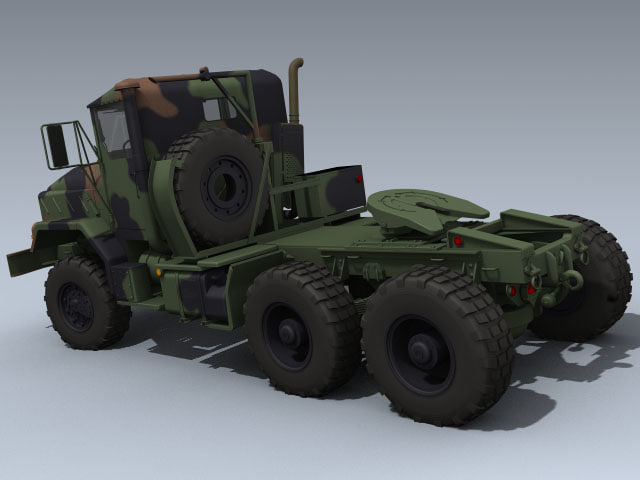 army m932a2 tractor 3d model