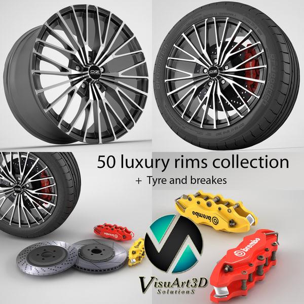 3ds 50 wheel rims