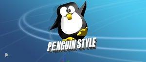 3d penguin style model