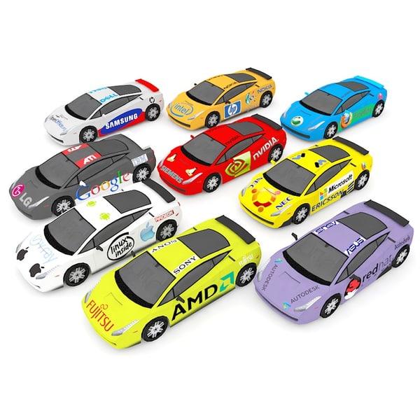 3d model racing car