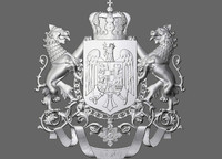 royal coat arms romania 3d model