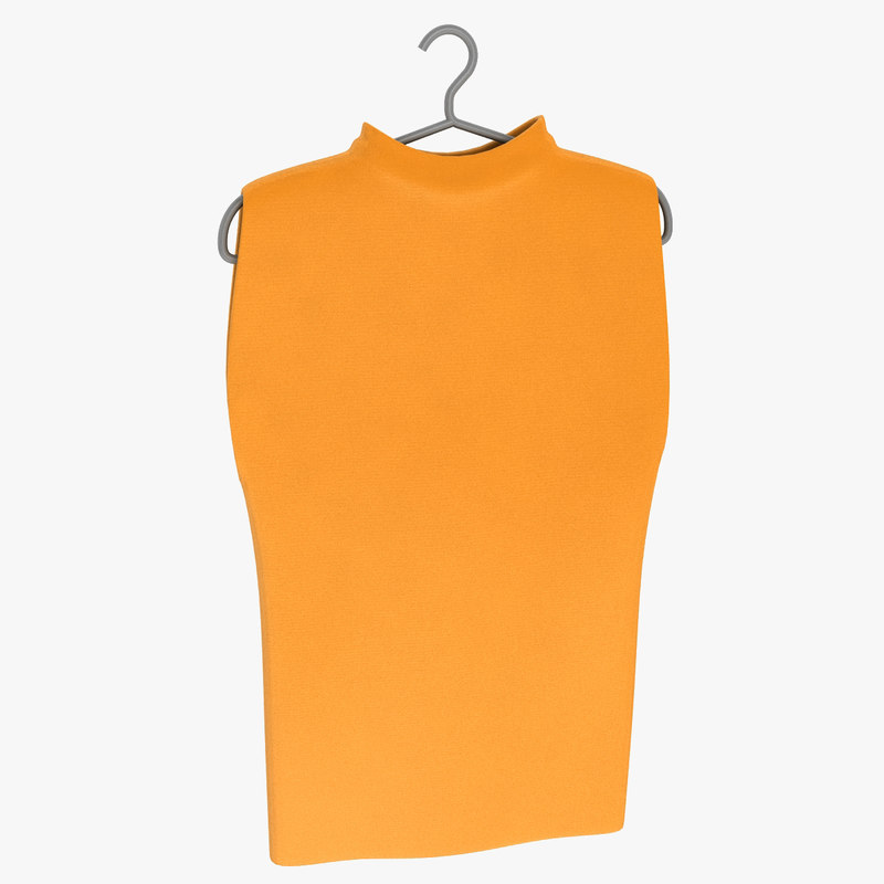 3d model sleeveless shirt man