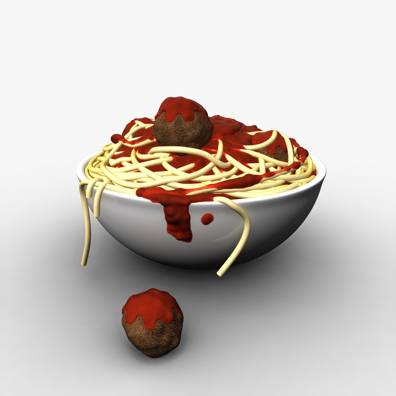 3d bowl noodles model