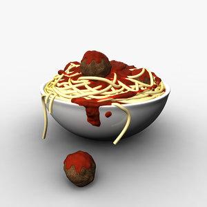 3d bowl noodles model