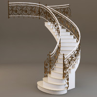 stairs staircase architecture 3d model