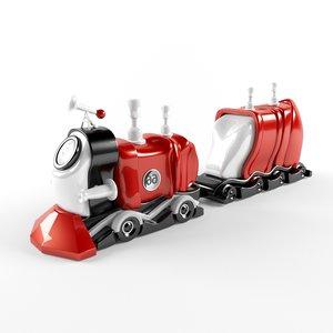 3d train engines model