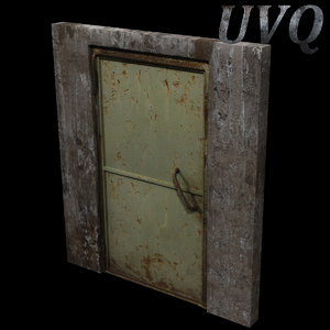 3d model metal door wall