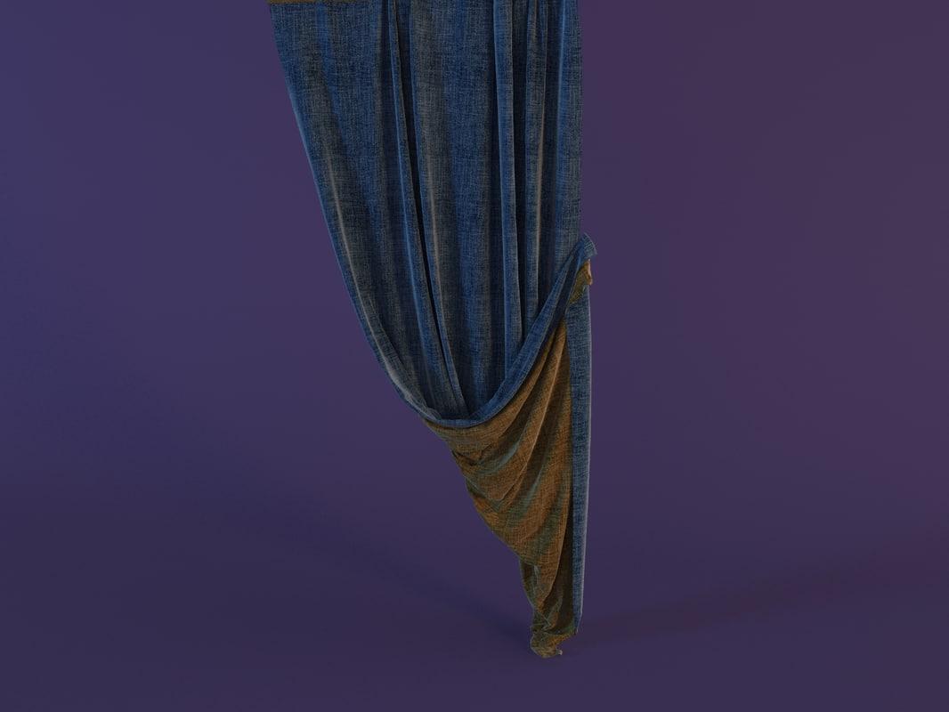 curtain cloth fabric 3d model