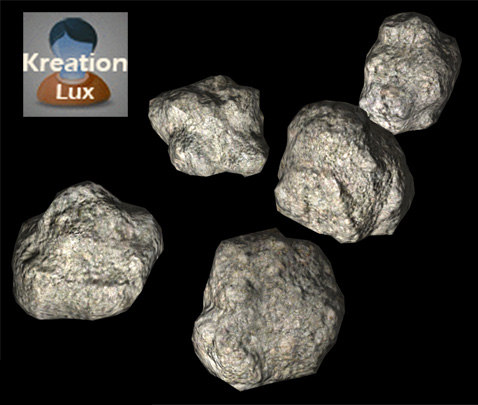 rocks asteroid space 3d model