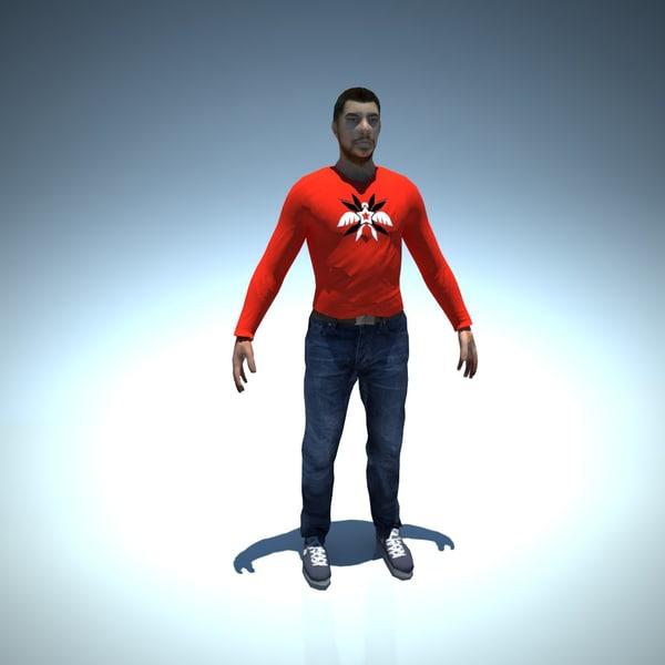 free character man 3d model