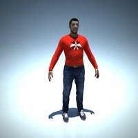 free character man 3d model