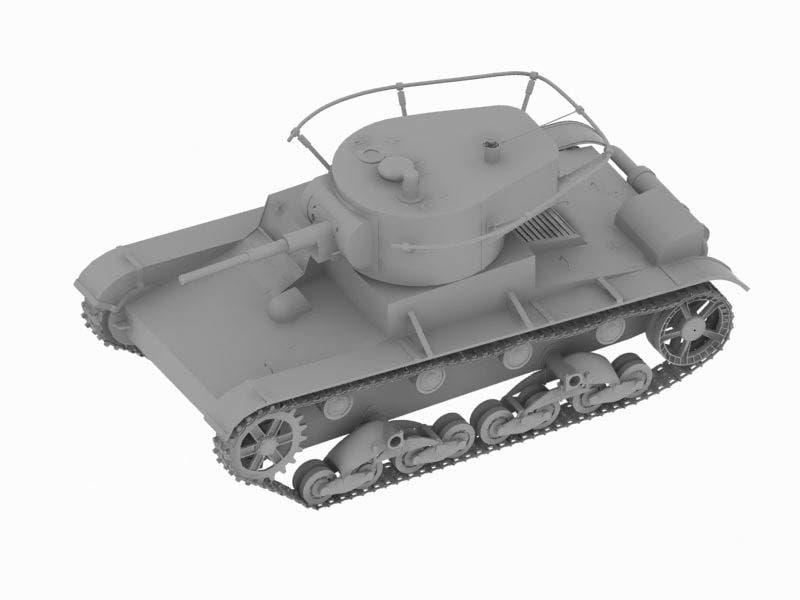 free soviet tank t-26 3d model