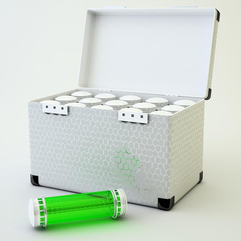 3d max case ampul