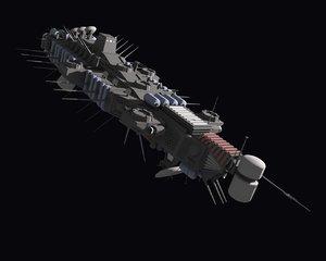 obj space spaceship ship