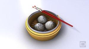 c4d china oriental bun