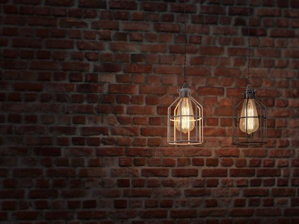 3ds max cage lamp edison bulb
