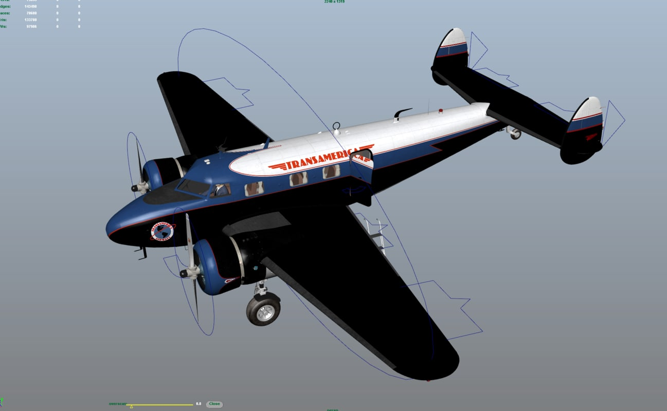 lockheed electra 12a 3d 3ds