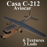 3d casa c-212 aviocar model