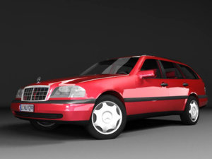 mercedes-benz c220 estate s202 3ds