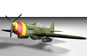 free ww2 fighter plane 3d model