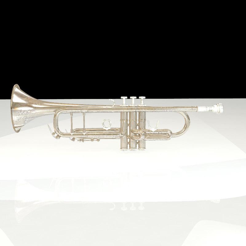brass trumpet 3d ma