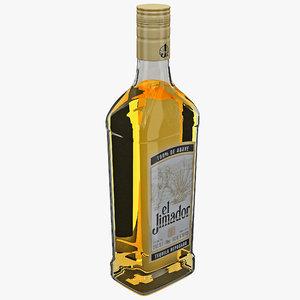 tequila bottle el jimador 3d model