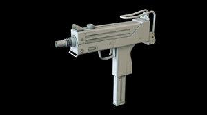 3d uzi submachine gun model