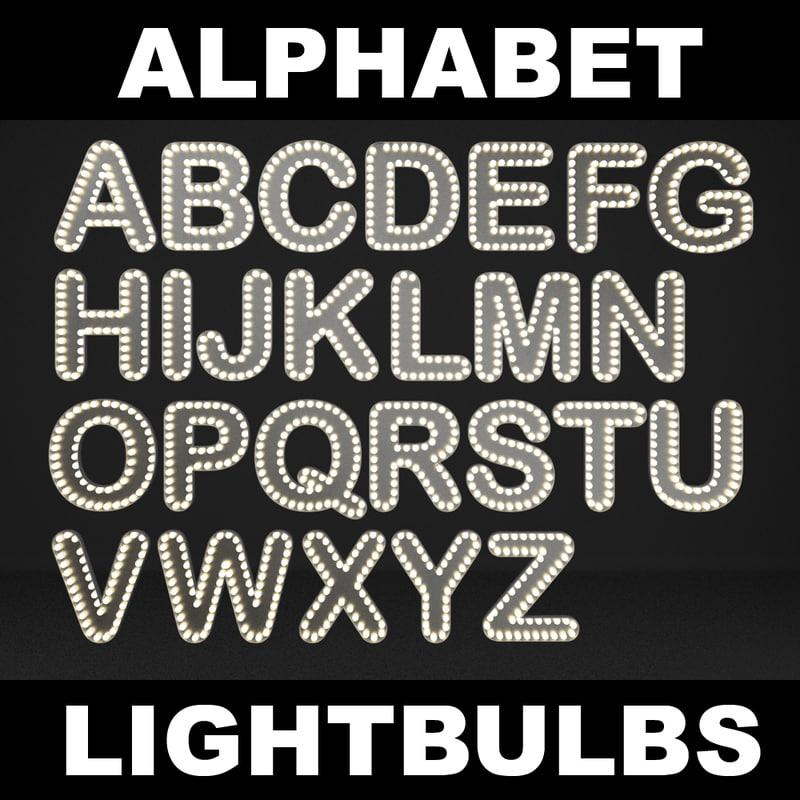 lightbulb letters max
