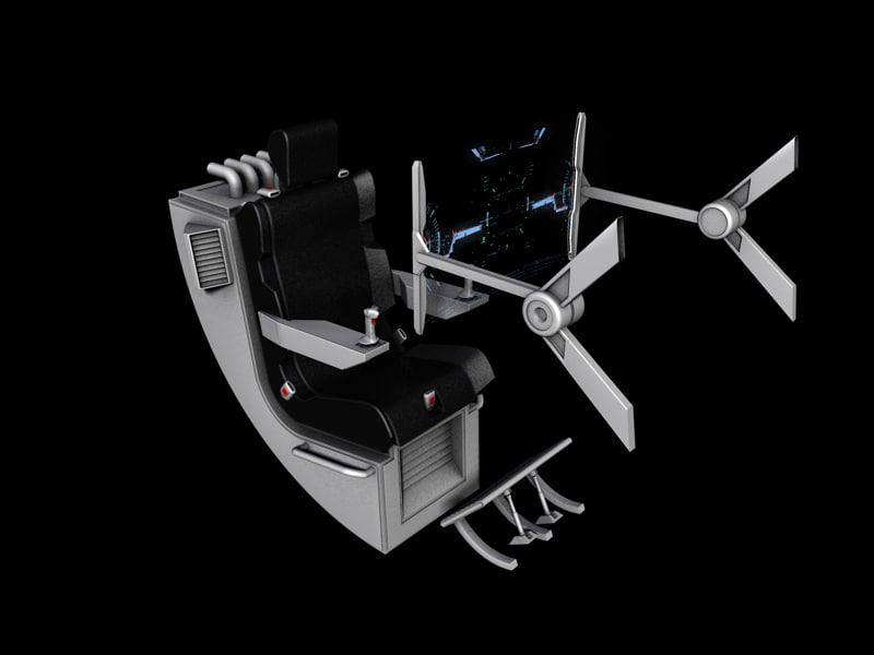 cinema4d spaceship cockpit