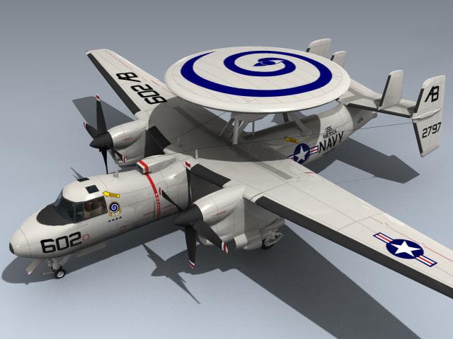 3d e-2c hawkeye model