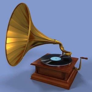 3dsmax gramophone retro