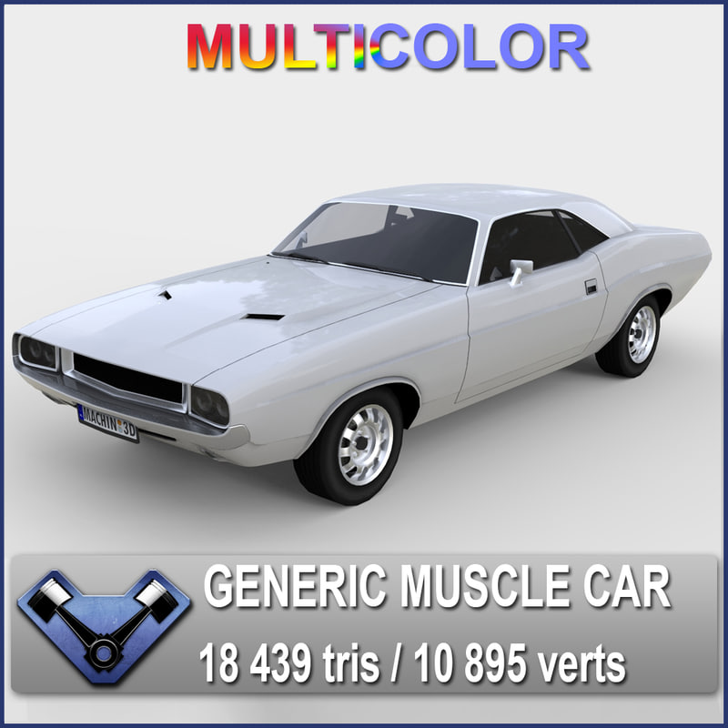 3d generic muscle car kowalsky