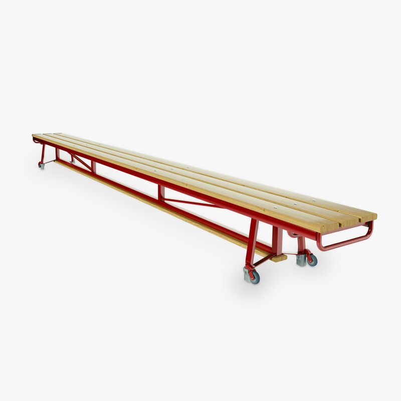 gymnastic benches 3d obj